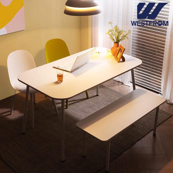 [웨스트프롬] 모던 엘라) 1200 화이트 라운드 테이블(식탁)