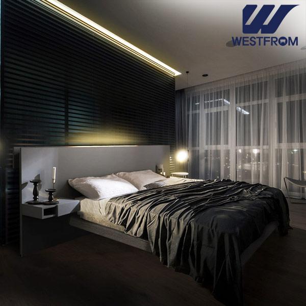 [웨스트프롬] New모던벨라) 라이팅그레이 TWO 매트리스 침대(퀸,킹 공용) / 프레임만
