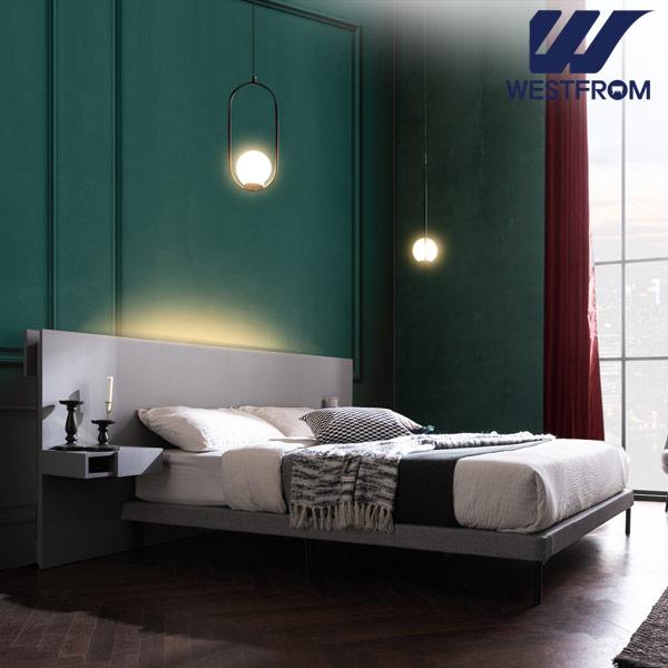 [웨스트프롬] New모던벨라) 라이팅그레이 TWO 매트리스 침대(퀸) / 클라우드 Top F5 QUEEN 매트리스