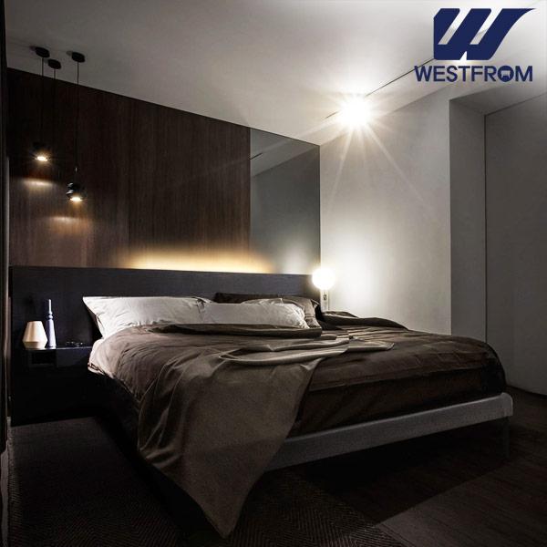 [웨스트프롬] New모던벨라) 라이팅블랙 TWO 매트리스 침대(퀸,킹 공용) / 프레임만