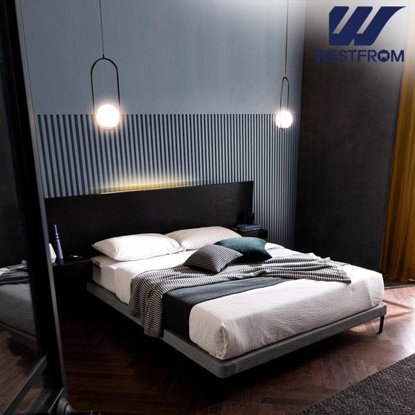 [웨스트프롬] New모던벨라) 라이팅블랙 TWO 매트리스 침대(퀸) / 클라우드 Top F1 QUEEN 매트리스