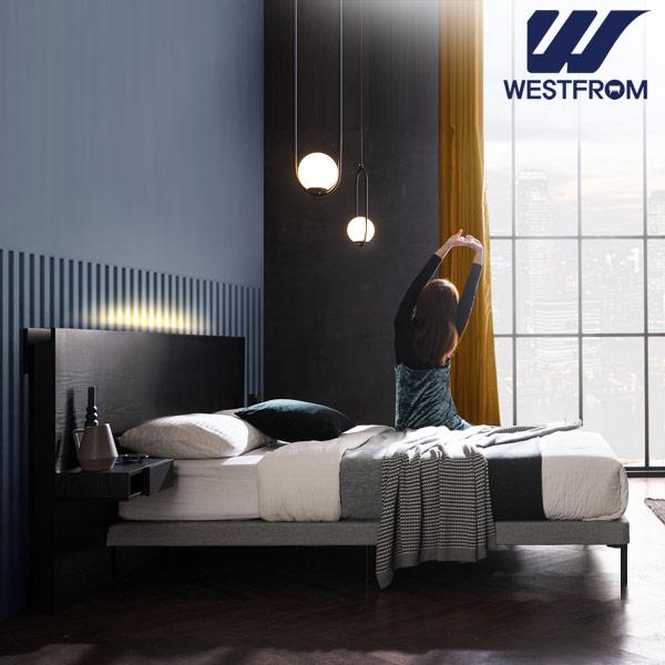 [웨스트프롬] New모던벨라) 라이팅블랙 TWO 매트리스 침대(퀸) / 클라우드 Top F3 QUEEN 매트리스