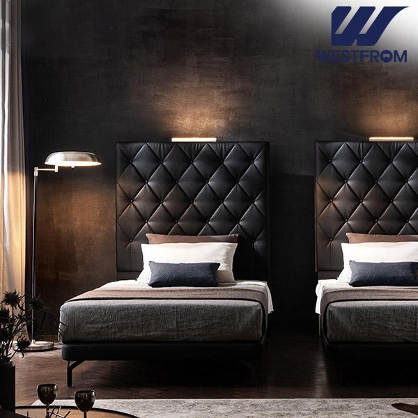 [웨스트프롬] New모던브르노) LED라이팅 블랙 TWO 매트리스 침대(SS) / 클라우드 Top F13 SS 매트리스