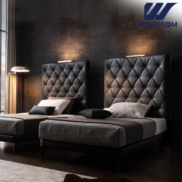 [웨스트프롬] New모던브르노) LED라이팅 블랙 TWO 매트리스 침대(SS) / 클라우드 Top F17 SS 매트리스