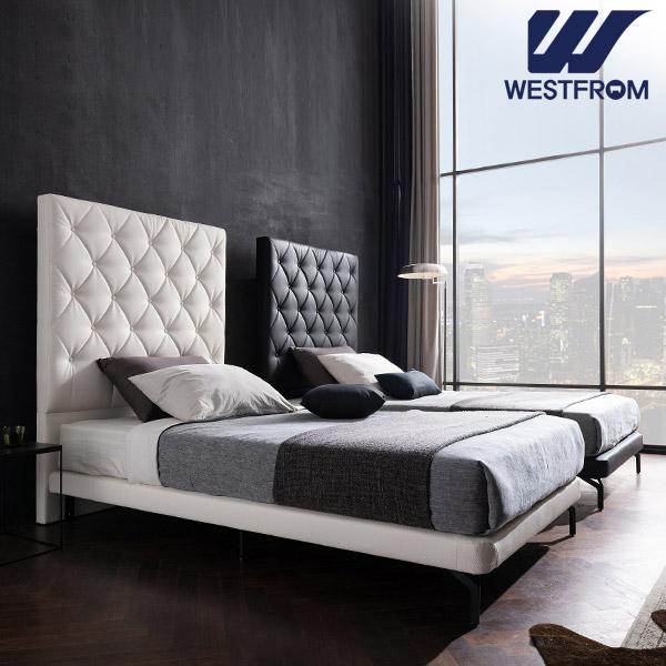 [웨스트프롬] New모던브르노) LED라이팅 화이트 TWO 매트리스 침대(SS) / 클라우드 Top F1 SS 매트리스