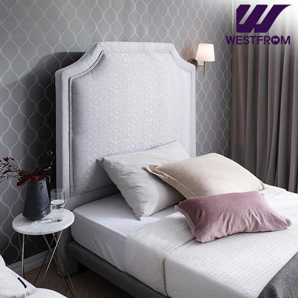 [웨스트프롬] New럭셔리 루엔) LED라이팅 패턴그레이 TWO 매트리스 침대(SS) / 클라우드 Top F1 SS 매트리스