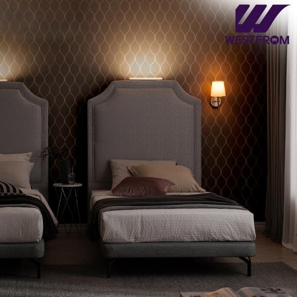[웨스트프롬] New럭셔리 루엔) LED라이팅 패턴그레이 TWO 매트리스 침대(SS) / 클라우드 Top F5 SS 매트리스