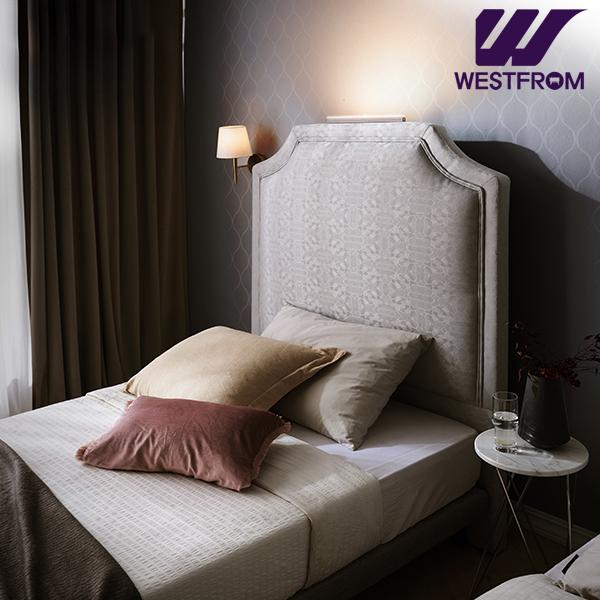 [웨스트프롬] New럭셔리 루엔) LED라이팅 패턴그레이 TWO 매트리스 침대(SS) / 클라우드 Top F17 SS 매트리스
