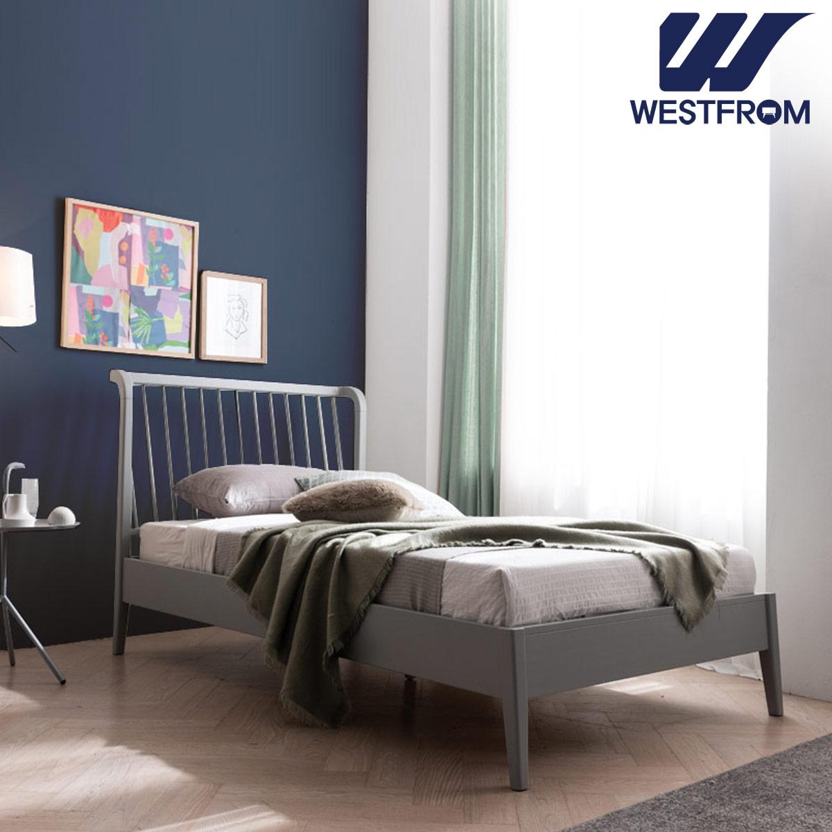 [웨스트프롬] 모던 잉그리드) 원목 평상형 침대(SS) / 클라우드 Top F1 SS 매트리스
