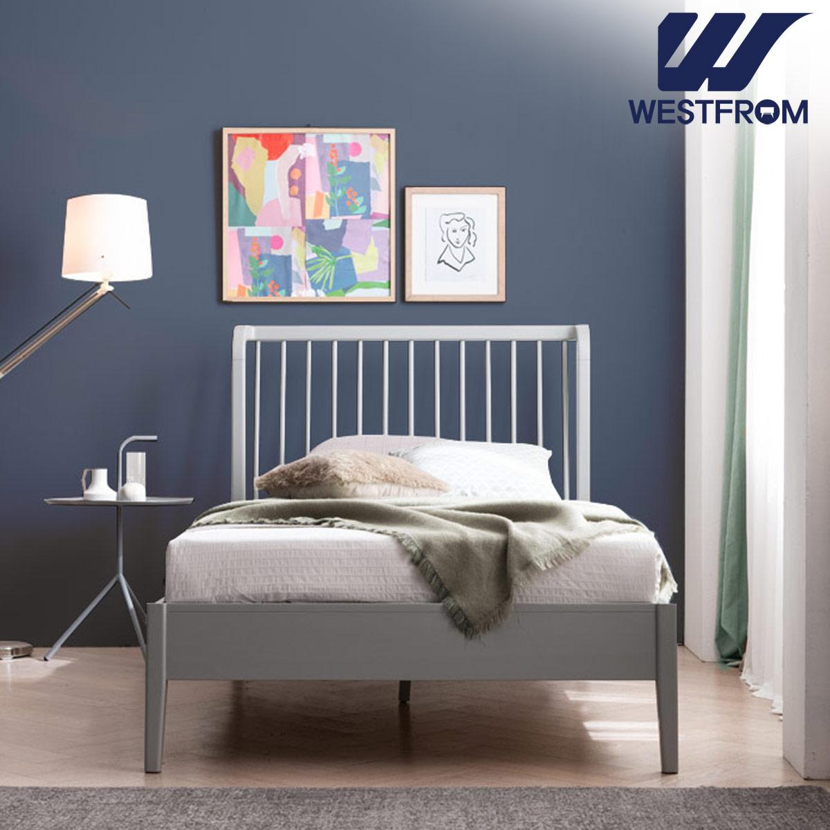 [웨스트프롬] 모던 잉그리드) 원목 평상형 침대(SS) / 클라우드 Top F5 SS 매트리스
