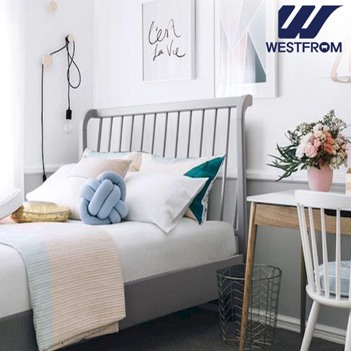 [웨스트프롬] 모던 잉그리드) 원목 평상형 침대(SS) / 클라우드 Top F13 SS 매트리스