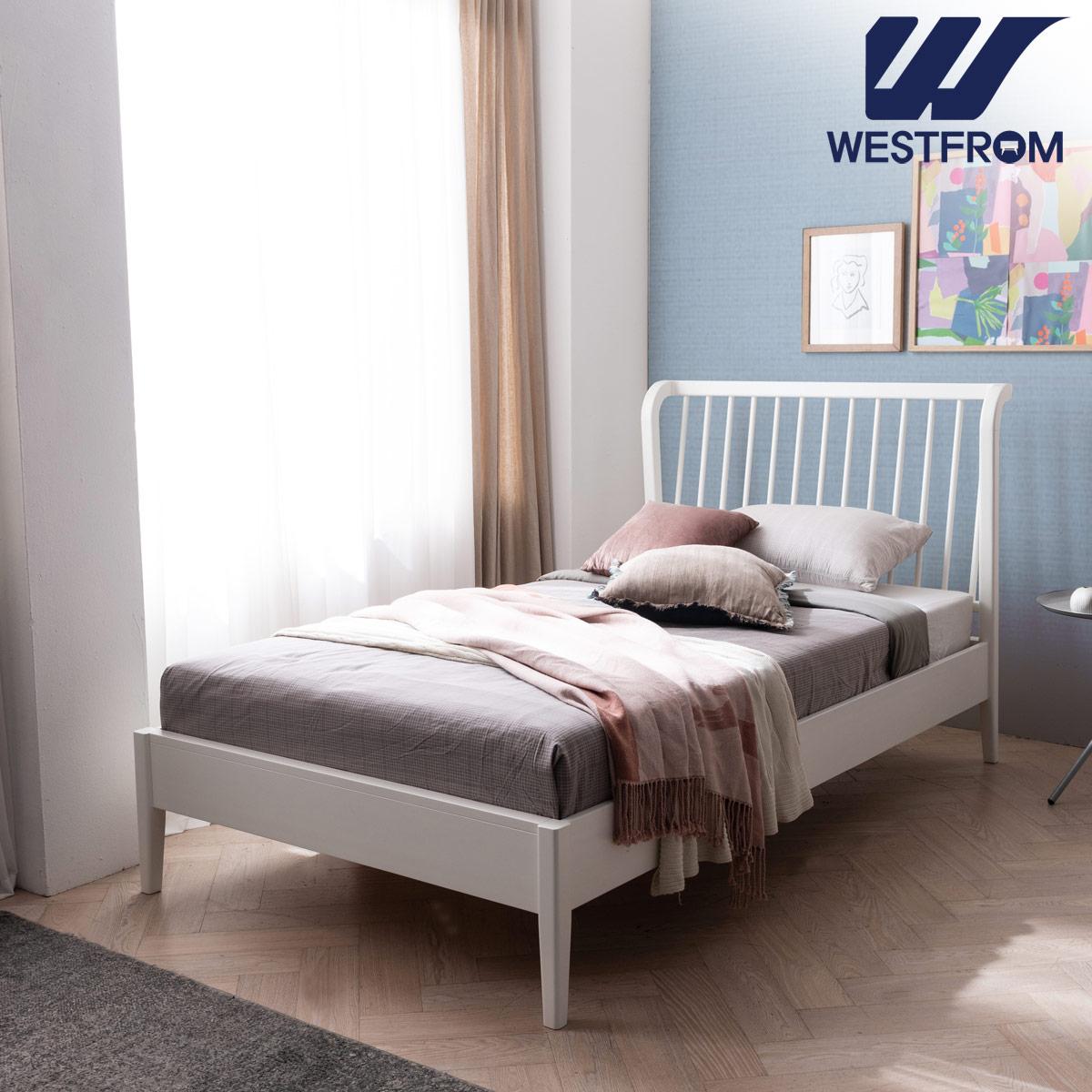 [웨스트프롬] 모던 잉그리드) 원목 평상형 침대(SS) / 클라우드 Top F15 SS 매트리스