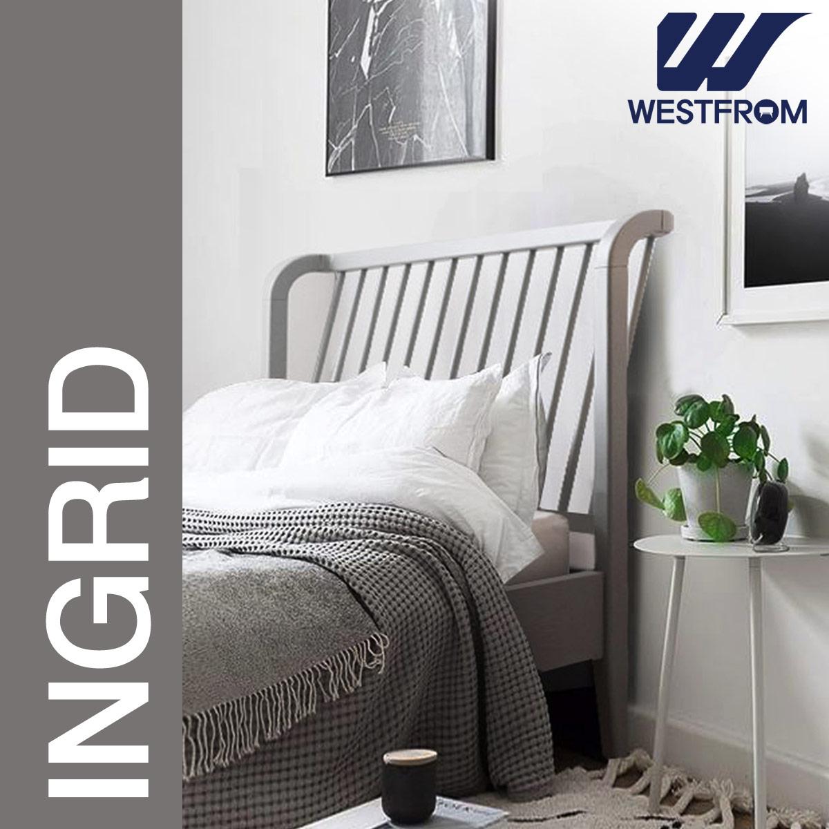 [웨스트프롬] 모던 잉그리드) 원목 평상형 침대(SS) / 클라우드 Top F17 SS 매트리스